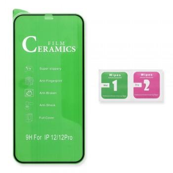 Folie Protectie Ecran Antisoc, Full Glue , Apple IPhone XS Max / 11 Pro Max , Ceramica 10D , Full Face , Transparent Bulk
